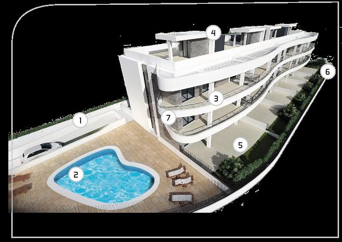 Grupo VIMA I Residencial Las Terrazas (Jávea) – Edificio